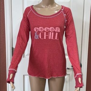 ❤️ Honeydew Cute 'Cocoa & Chill' Long Sleeves Top